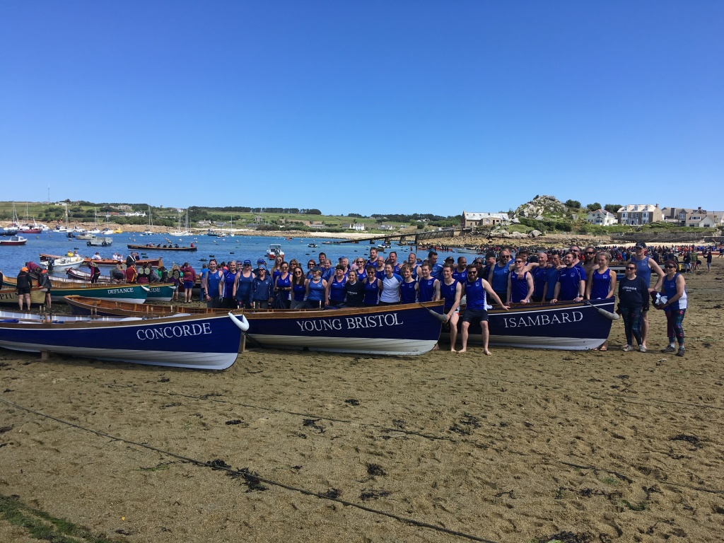 Bristol gig club at the world pilot gig champioships in the isles of scilly 2019